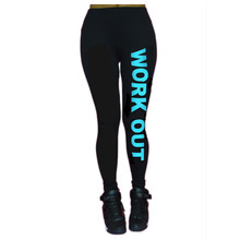 New Spring Summer Fitness Workout Alphabet Women Sports Leggings Fashion High Elastic Trousers Comfortable Slim Pencil Pants 063(China (Mainland))