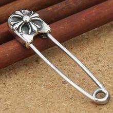 Оптовая стерлингового серебра 925 ювелирные изделия крест контактный брошь новый малый стерлингового серебра брошь брошь пряжка(China (Mainland))