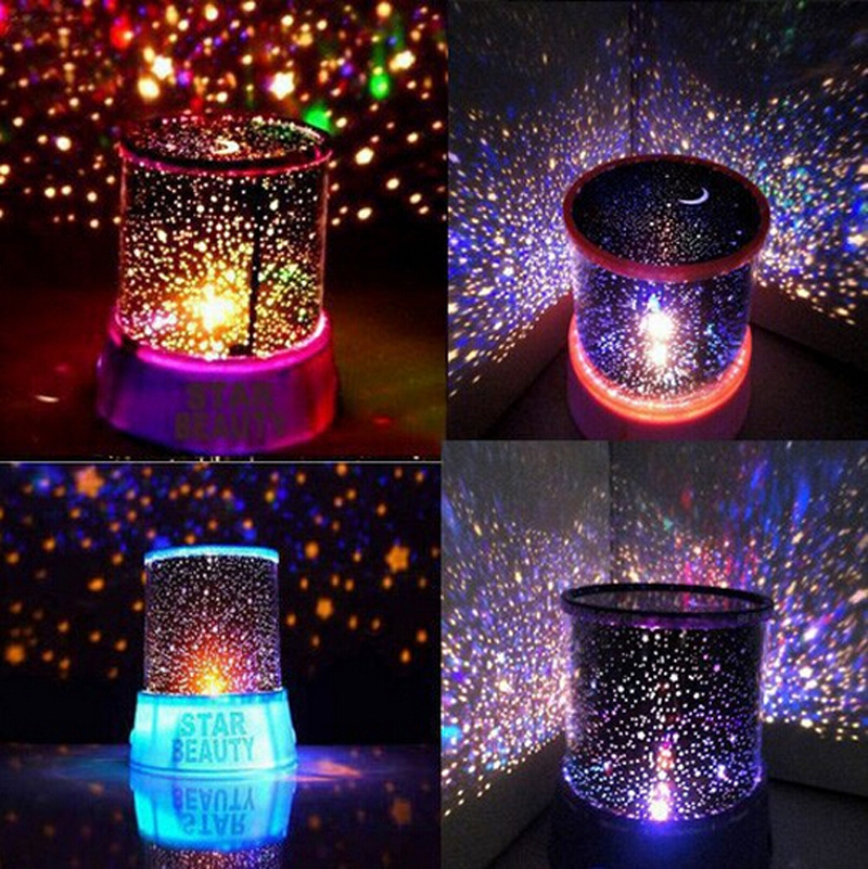 Navelty LED Night Light Star Starry Sky Projector table lamps For Bedroom Kids children desk home Party Christmas Children gifts(China (Mainland))