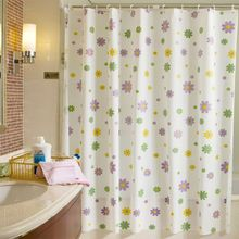 2016 New Shell Starfish Bathroom Waterproof Mildew Proof Shower Curtain With 12pcs Curtain Hooks Rings 180cm*180/200cm