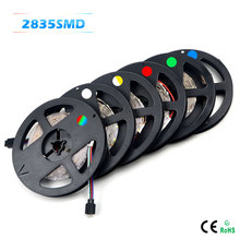 SMD 2835 RGB LED Strip light 300 LEDs / 5M New Year String Ribbon lamp More Brighter than 3528 3014; Lower Price 5050 5630 Tape(China (Mainland))