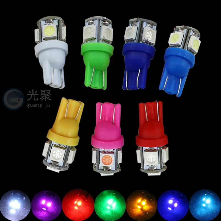 1x White 360 Degree 5050 SMD 168 194 2825 w5w T10 LED Car Led Light Bulbs For Parking led License Plate Lights(China (Mainland))