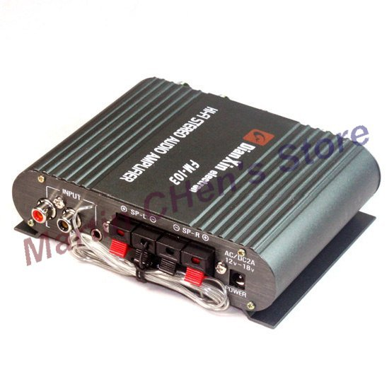 Free shipping 200W Mini Car/Motorcycle Stereo Power Amplifier Amp Mp3(China (Mainland))