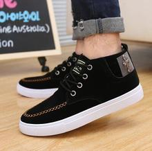 Men Shoes 2016New Suede Leather Flat Men's Fashion Casual Shoes Solid Male Footwear For Men Zapatos Hombre zz