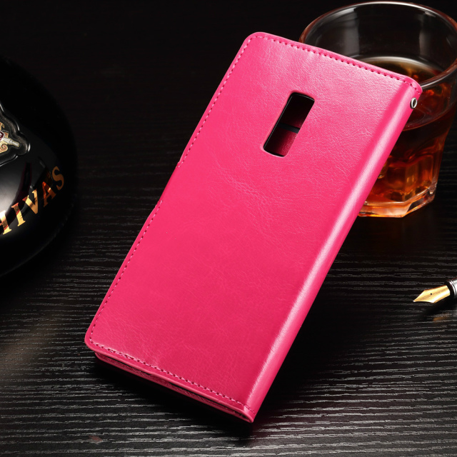 For One Plus 2/OnePlus2 (5.5inch) Luxury Wallet Leather Case For OnePlus Two Phone Bag Flip Cover With Stand And Card Slot