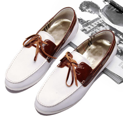 Mens Boat Shoes 100% Genuine Leather Brand Shoes Casual Shoes Spring Autum Lace-up Shoes<br>