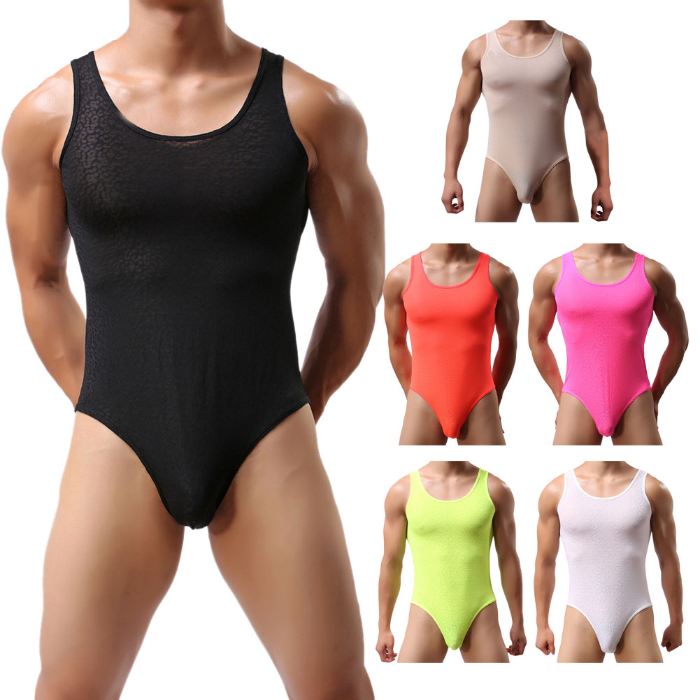 New Style Ultra-thin Male Jumpsuit One Piece Underwear Men's Coverall Sexy Triangle Panties 6 Colors BS88(China (Mainland))