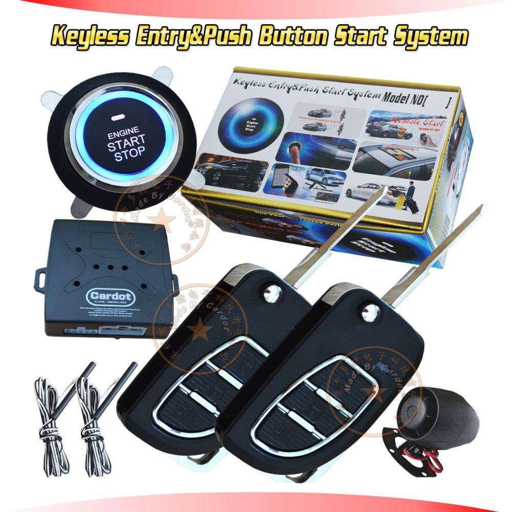 new cardot flip key keyless entry&push start system remote keyless entry lock or unlock car door auto PKE induction central lock(China (Mainland))