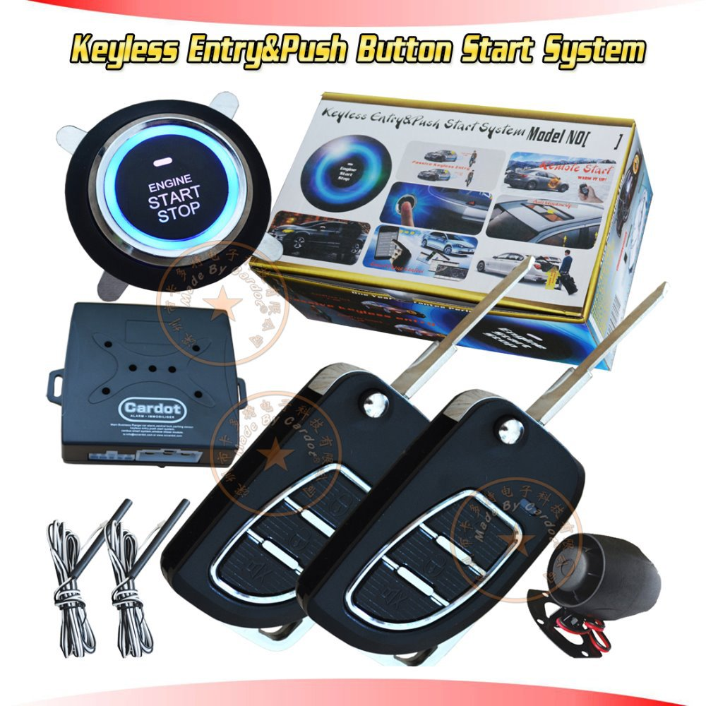 new cardot flip key keyless entry&push start system remote keyless entry lock or unlock car door auto PKE induction central lock(China (Mainland))
