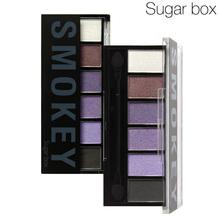 Sugar Box 6 Colors Eyeshadow Palette glamorous smoky eye Shadow makeup kit Drop shipping #4