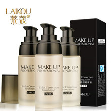 New Brand LAIKOU Makeup Base Face Liquid Foundation BB Cream Concealer Whitening Moisturizer Oil-control Waterproof Maquiagem(China (Mainland))