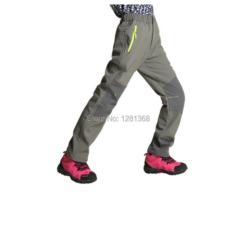 Sport Ski&Hunting Trousers Kids Outdoor Hiking&Camping &Climbing Pants Boys&Girls Softshell Pants Fleeces Inside Pants For Kids(China (Mainland))