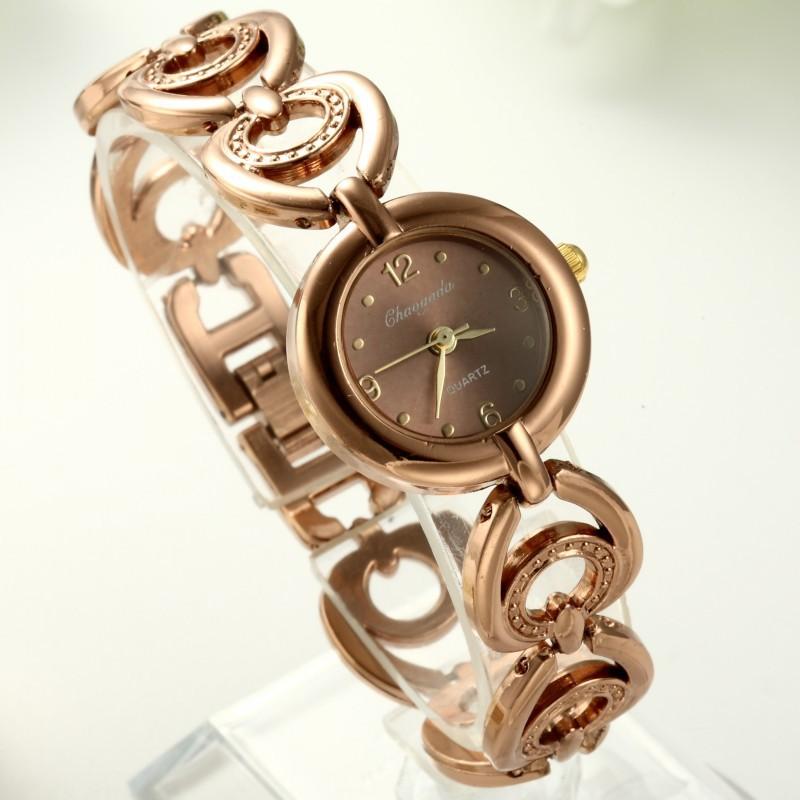 Free shipping Korean fashion ladies watch exquisite stitching steel bracelet watch Peach Rose Miss JinQuartz watch<br><br>Aliexpress