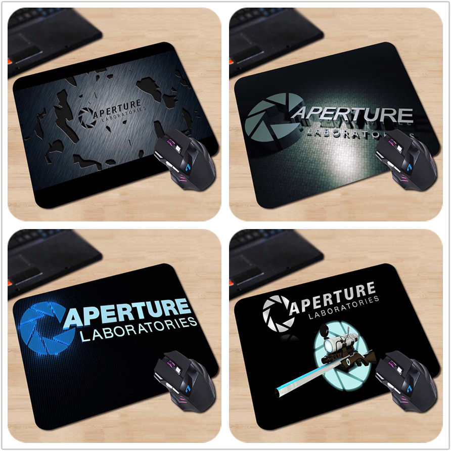 Best Sales Customized Mouse Pad Aperture Laboratories Portal Video Game Dark Valuable Computer Notebook Rubber Mouse Mat Pad(China (Mainland))