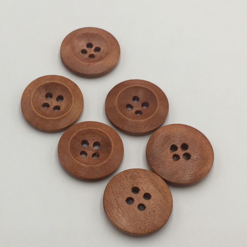 Home & Garden Brown Wood 4-hole buttons 20mm children's clothing decorative buttons shirt buttons FC568(China (Mainland))
