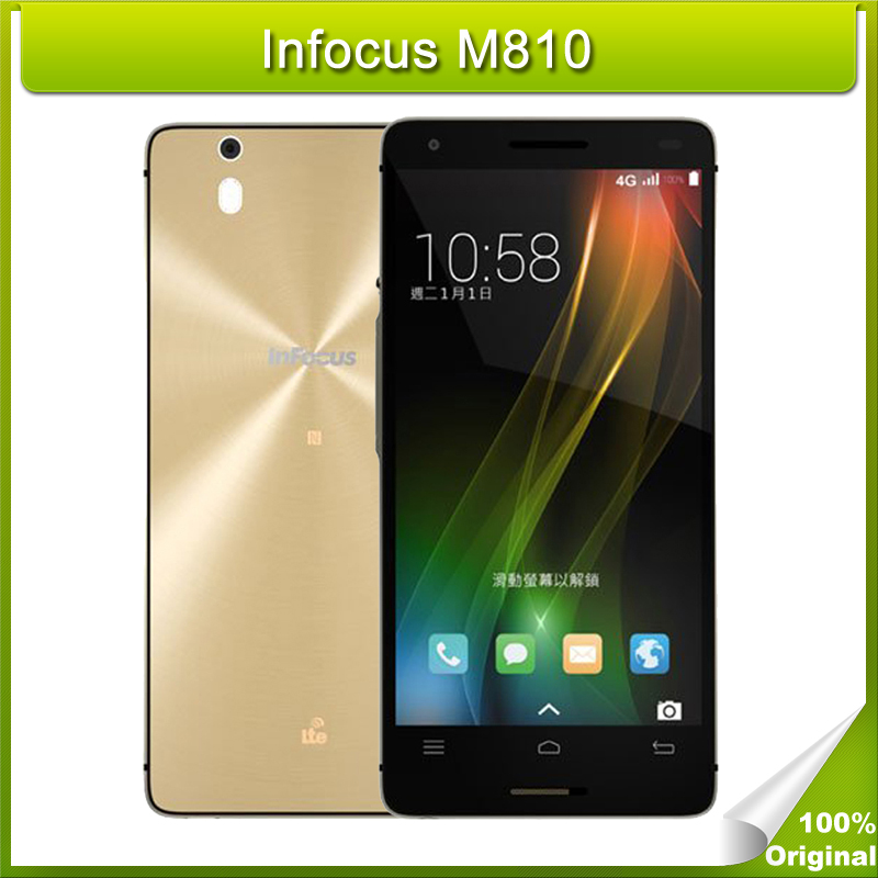 Original Infocus M810 5.5 inch Android OS 4.4 Snapdragon 801 MSM8974AC Quad Core 2.5GHz ROM 16GB RAM 2GB GPS 4G FDD-LTE