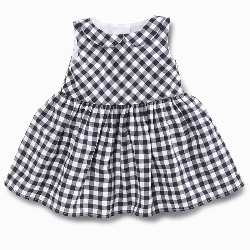 New 2016 Summer Baby Dresses Girl Plaid Dress Girls Casual Dresses Kids Costumes Fashion Baby Clothing(China (Mainland))