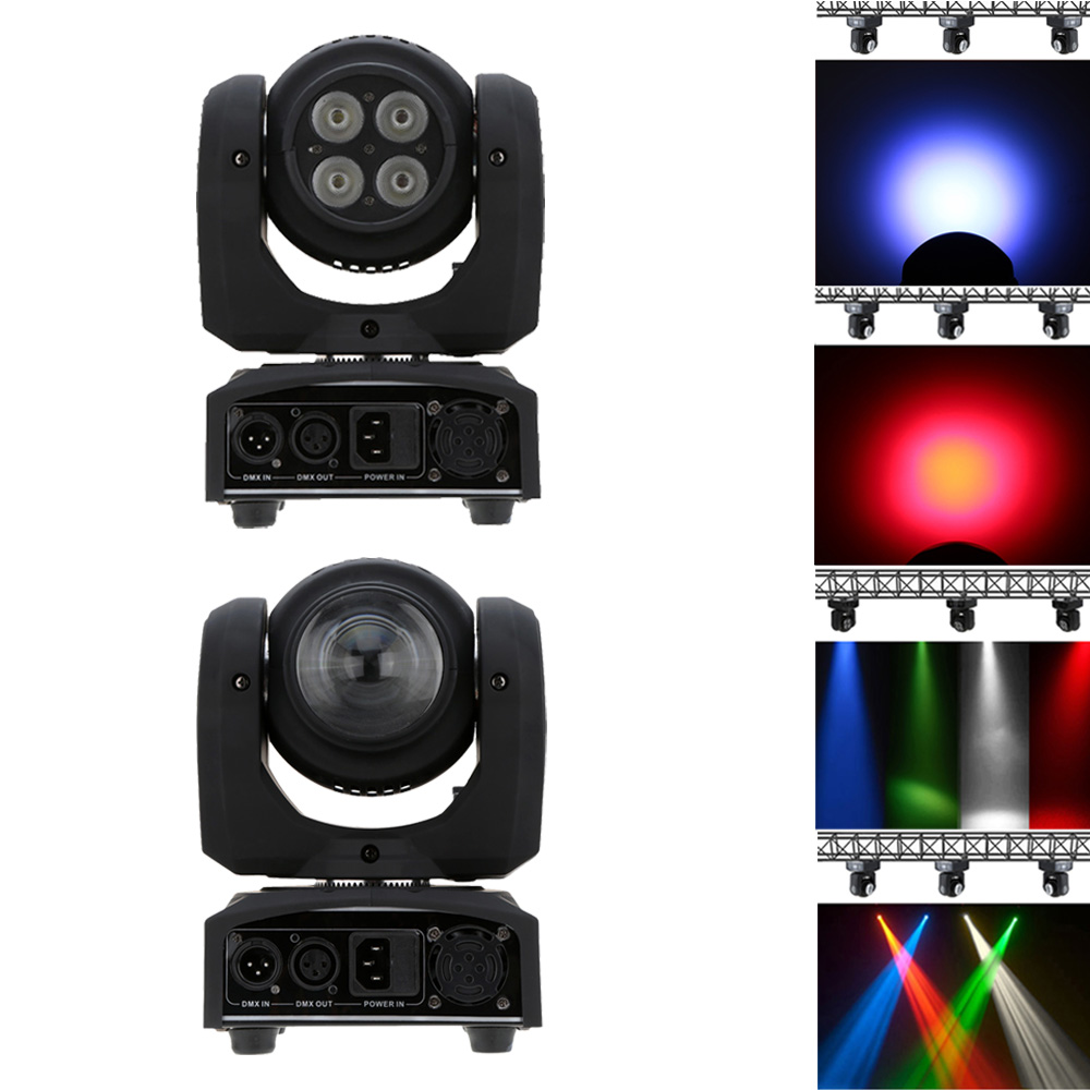 LIXADA 5LED 50W RGBW Light Double Sides 15/21 Channel LED Stage Light DMX 512 Beam Wash Rotating Moving Head for Disco Party(China (Mainland))
