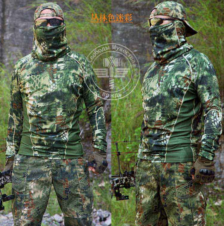 Mens Tactical Hunting Camouflage Quick Dry T-shirt For Outdoor Sport Wild Survival Airsoft Camping<br><br>Aliexpress