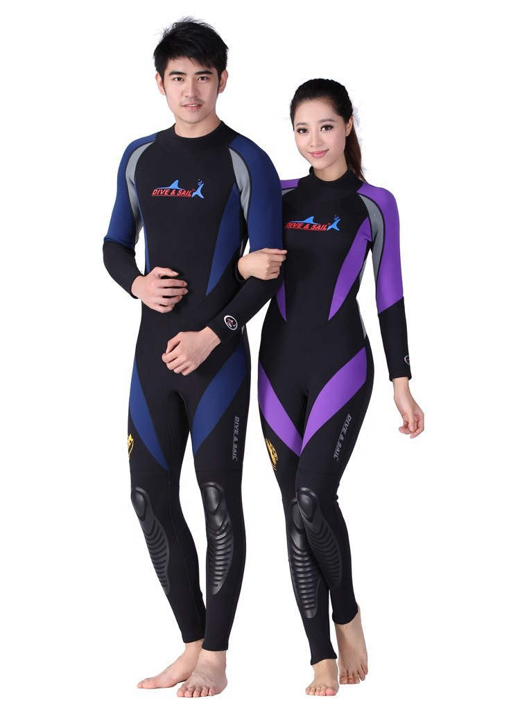 Fashion neoprene 1.5mm long sleeve neoprene snorkeling wetsuit one-piece diving suit top diving gears and surfing gears
