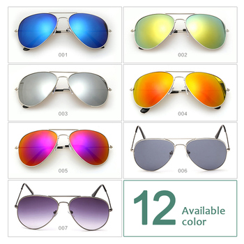 Okulary przeciwsłoneczne pilotki aviatorki ciemne różne kolory