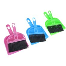 Wholesale 5pcs/lot Car Keyboard Cleaning Whisk Broom Dustpan Set 3 Pcs Assorted Color(China (Mainland))