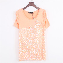 Buy 2017 spring summer plus size women T shirt vintage O neck short sleeve clothes casual slim tops t shirt women loose clothing for $5.42 in AliExpress store