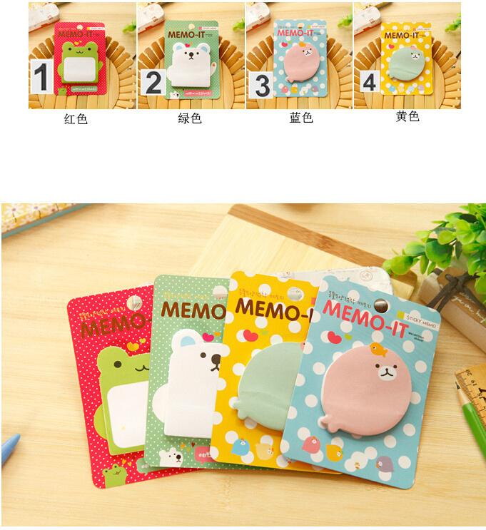 frog ,bear / memo pad / 13*9cm(China (Mainland))