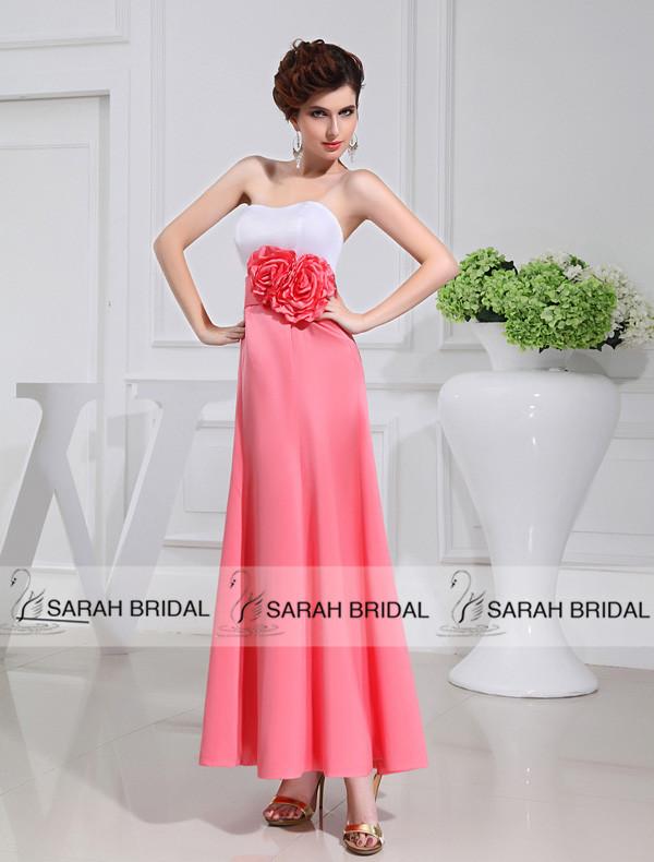 Sweet Coral Long Bridesmaid Dresses Real Picture Plus size Bridesmaids Bridesmaid Dresses Party Gowns Vestidos Para Festa BD007(China (Mainland))