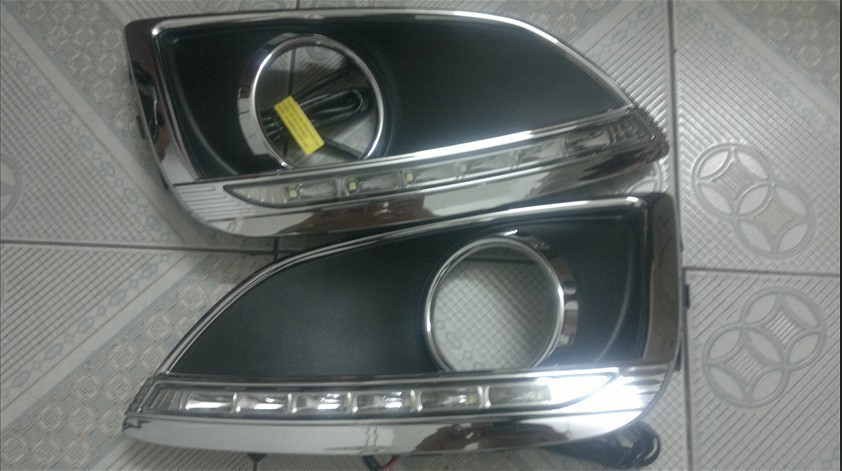 Free shipping 2010-2012 Hyundai ix35 High quality LED Daytime running lights front Fog lamp Fog Lights<br><br>Aliexpress