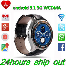 Original I2 Android 5.1 3G WiFi SmartWatch MTK6580 Quad Core Heart Rate Monitor GPS smartphone 512MB RAM 4GB ROM mobile phone(China (Mainland))