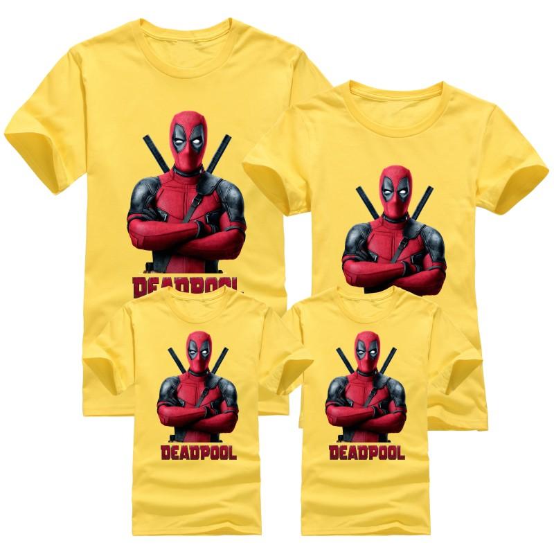 Summer New Cartoon Children T Shirts Kids Deadpool Family Matching Outfits T-Shirt children's Clothing For Boys Girls T-Shirts(China (Mainland))