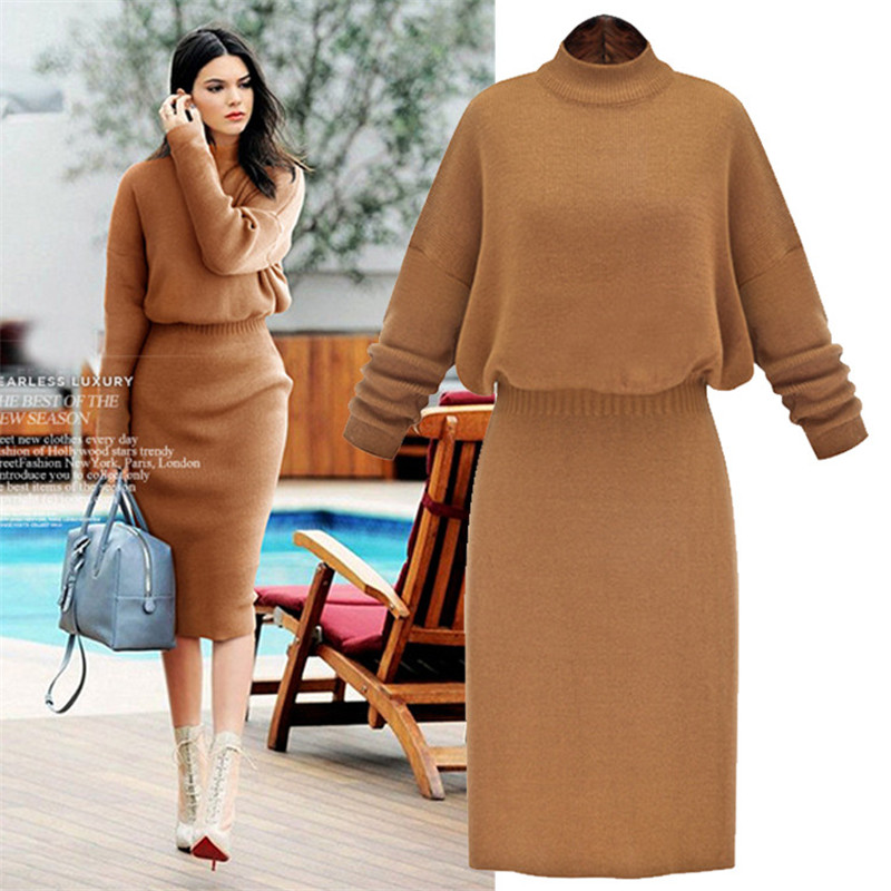 Long sweater dresses plus size