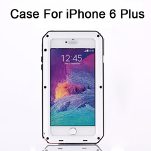 For Apple Whole body protection weather/dirt/shock proof Metal alloy Cell Phone Protective Cases Covers For iPhone6 Plus5.5 inch