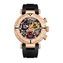 Récif tigre/RT marque supérieure hommes Sport montres chronographe or Rose squelette montres étanche reloj hombre masculino RGA3059-S(China)