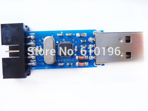 USBASP USBISP AVR Programmer USB ATMEGA8 ATMEGA128 Support Win7 64K With Overcurrent protection(China (Mainland))