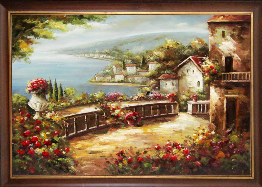"""2015 new artwork hand painted mediterranean landscape oil painting 20X24""""(50X60CM) wall pictures for living room(China (Mainland))"""