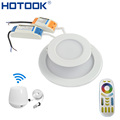 HOTOOK Smart Milight Wifi RGBW LED Downlight Lamp Dimmable Recessed RGB CCT Color Changing Remote Wifi