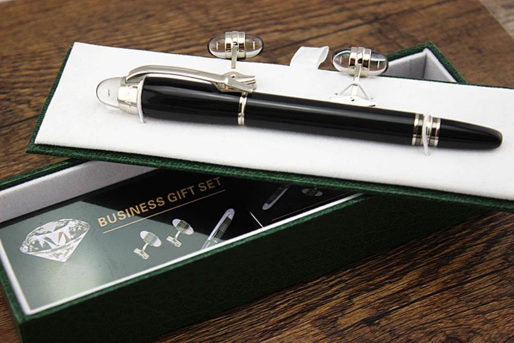 product Luxury starwalker mb brand black Roller Ball Pen+Crystal buckle Stationery school office supplies writing blance