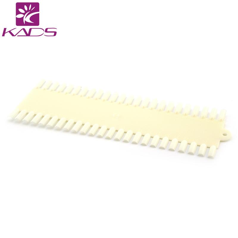 KADS 5pcs/Lot 48 Tips Natural White Nail Display Color Chart Nail Polish Display Nail Art Design Practice False NaiL(China (Mainland))