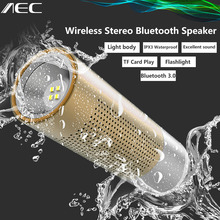 AEC BT201 Mini Bluetooth Speaker Handsfree w/ Mic LED Flashlight Wireless Stereo Speaker Loudspeaker TF Card Slot For Smartphone(China (Mainland))