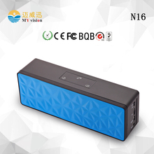 3 Colors N16 With Audio input Handsfree Touch Button memory card Function Water Cube Stereo Bluetooth Speaker