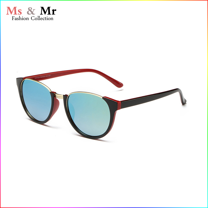 2016 new retro Semi-rimless Metal+plastic frame green mirror lens sunglasses for women men high quality 10 colors glasses VU400(China (Mainland))