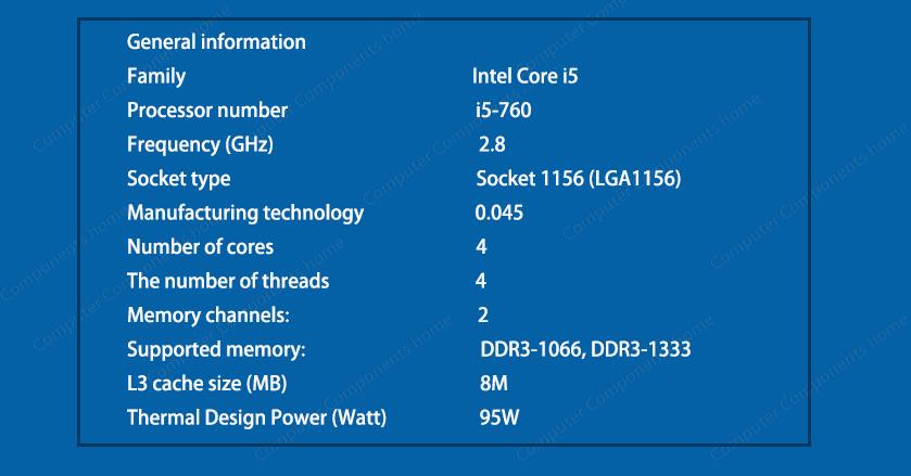 Original INTEL core 2 i5-760 i5 760 Processor (2.8 GHz/ 8MB Cache/ Socket LGA1156/ 45nm) Desktop i5 760 CPU warranty 1 year