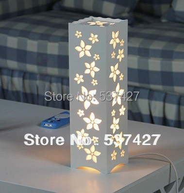 Modern Brief Style Bedroom Use Redbud Flower 3W LED Table Lamp 220v Input, EU/USA plug can be chose(China (Mainland))