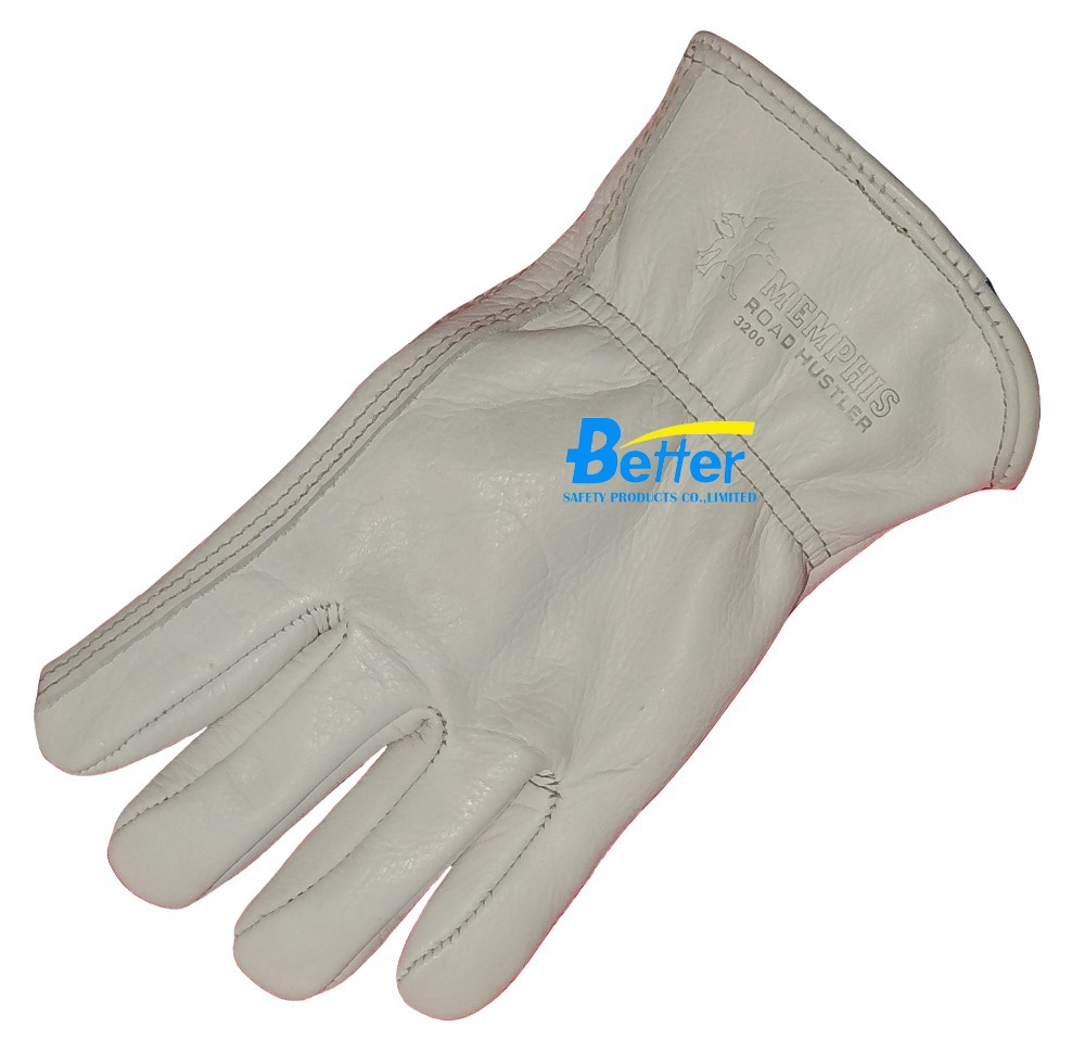 Leather Safety Glove Grain Cow Leather Driver Work Glove(China (Mainland))
