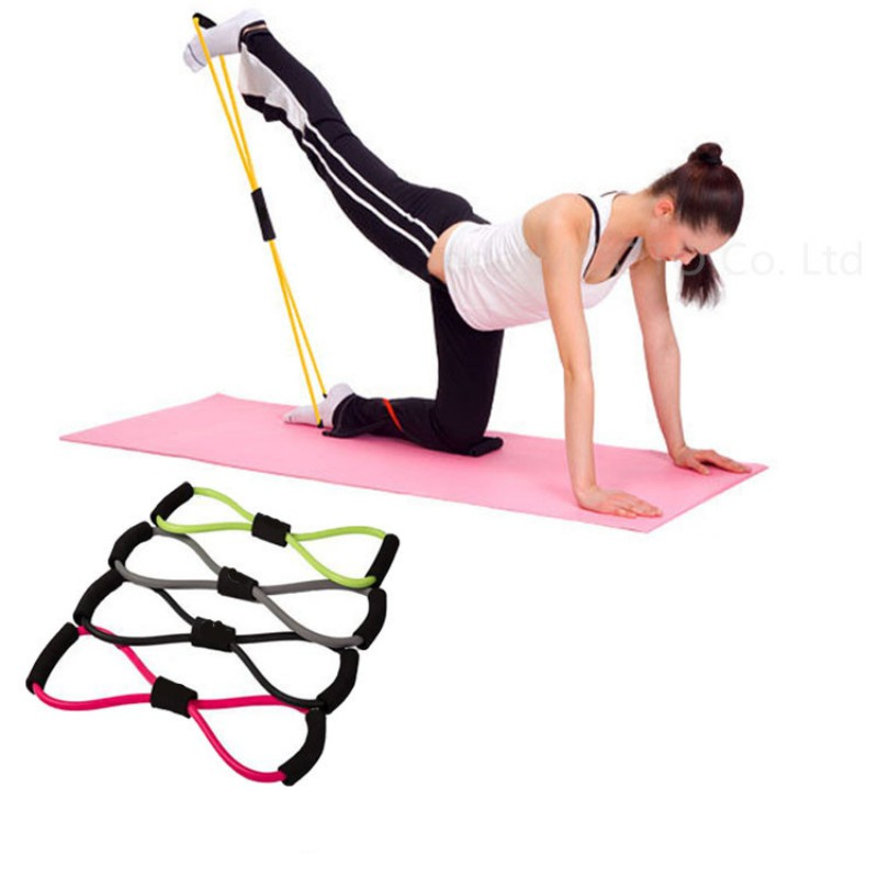 Resistance Training Bands Tube Workout Exercise Yoga 8 Type Body Building Fitness Equipment Tool LZH7