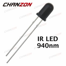 100pcs 5mm IR Receiver Diode 940nm Infrared Receiving LED Bulb 20mA 5mm LED Light Emitting Diode Lamp Electronics Components(China (Mainland))