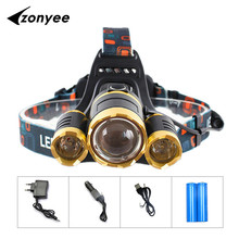 LED Headlight 10000 Lumens LED Head Lamp XML T6 Front HeadLamp 18650 Rechargeable Fishing Hunting Headlamps Outdoor Lighting(China (Mainland))