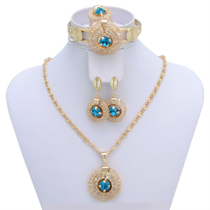 WideBay Blue Stone Vintage Charm Necklace Vners jewellery,Fashion Jewelry Set(ensemble de bijoux)For Women,Free Shipping(China (Mainland))